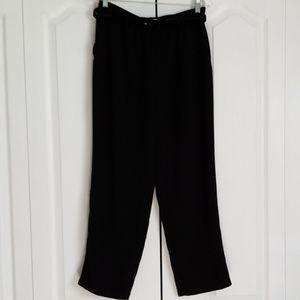 Koret 14 Petite Black Dress Pants and Belt